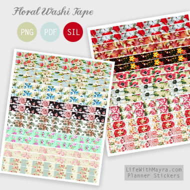 picture about Free Printable Washi Tape named  Cost-free Planner Stickers, Printable Stickers