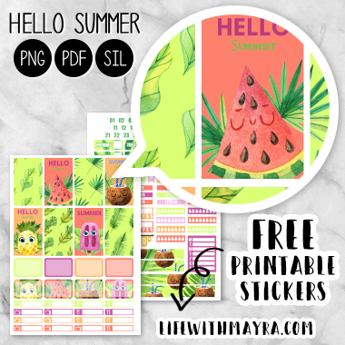 picture relating to Free Printable Food Planner Stickers called  Absolutely free Planner Stickers, Printable Stickers
