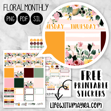 It's just a picture of Free Printable Life Planner with full page